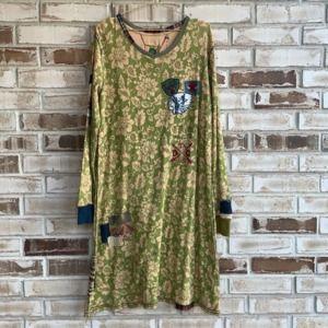 Double D Ranch Long Sleeve Patchwork Dress Sz 1x